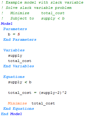 Slack Variable Tutorial | APMonitor Documentation